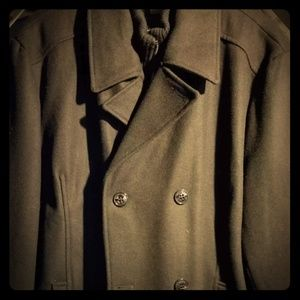 KENNETH COLE REACTION Pea Coat Wool Blend
